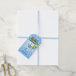 Blue Bunny Birthday Cartoon Gift Tags