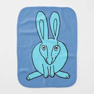 blue bunny burp cloth