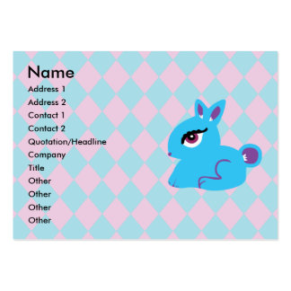 Blue Bunny Business Cards Chubby Business Cards