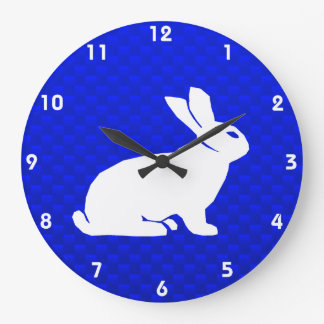 Blue Bunny Large Clock