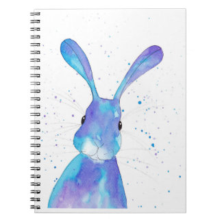 Blue Bunny Peppermint Art Note Book