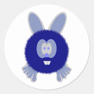 Blue Bunny Pom Pom Pal Stickers