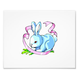 blue bunny purple ribbon png photo art