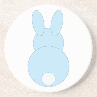Blue Bunny Rabbit Drink Coasters