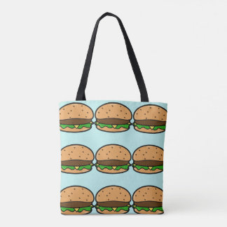Blue Burger Tote Bag