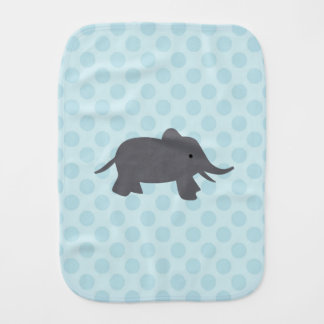 Blue Burp Cloth with Elephant design