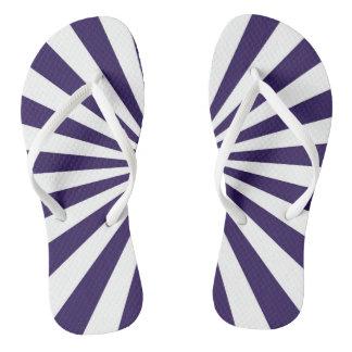 Blue Burst Flip Flops