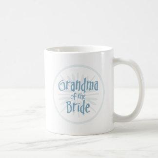 Blue Burst Grandma of the Bride Basic White Mug