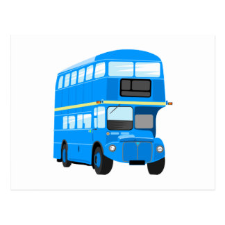 Blue Bus Postcard