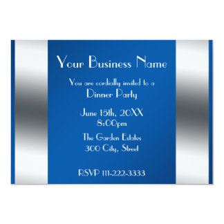 Blue Business invitation