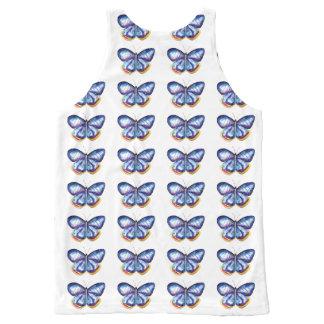 Blue butterflies Art Unisex Vest All-Over Print Tank Top