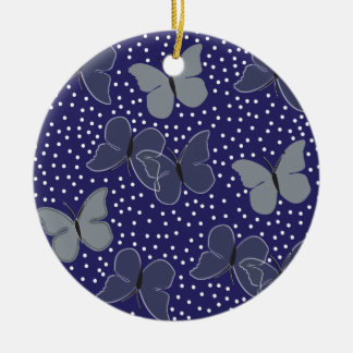Blue Butterflies Christmas Ornament