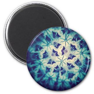 Blue Butterflies Kaleidoscopic 6 Cm Round Magnet