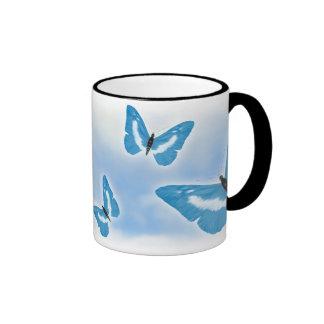 Blue Butterflies Mugs