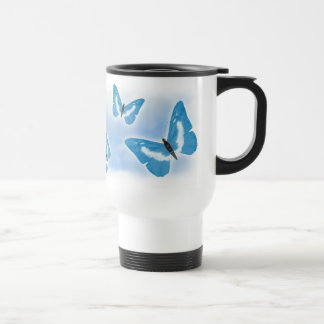 Blue Butterflies Coffee Mugs