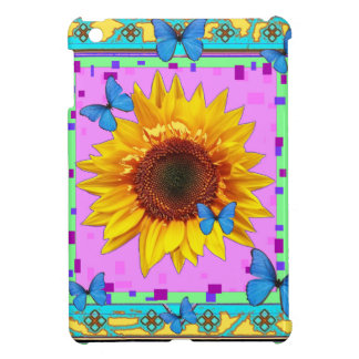 Blue Butterflies, Sunflower Pink Gifts by Sharles Cover For The iPad Mini