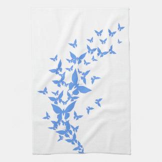 Blue Butterflies Tea Towel