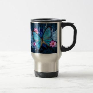 Blue-Butterfly-Abstract.jpg Travel Mug