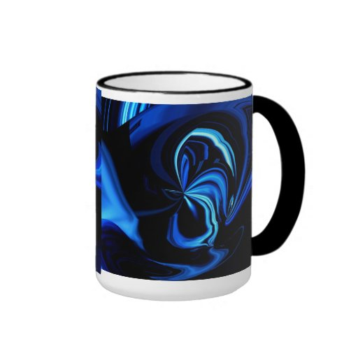 Blue Butterfly Abstract Coffee Mug