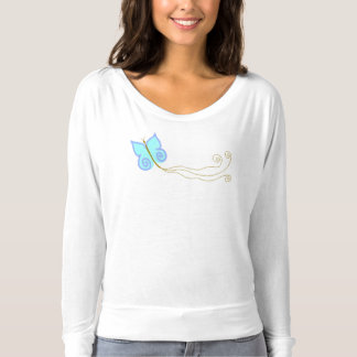 Blue Butterfly Abstract Wearable Art T-shirts