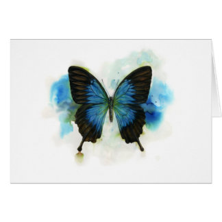 Blue Butterfly Any Occasion Stationery Greeting Card