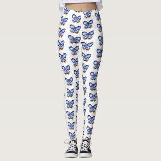 Blue Butterfly Art Custom Leggings