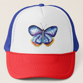 Blue Butterfly Art Painting Trucker Hat
