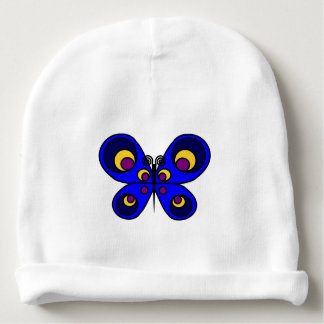 Blue Butterfly Baby Beanie