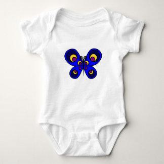 Blue Butterfly Baby Bodysuit