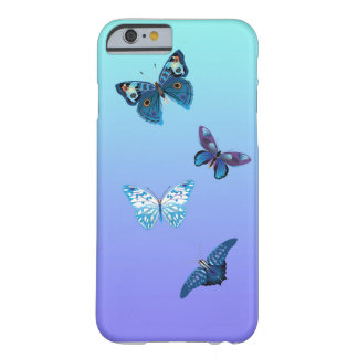 Blue Butterfly Barely There iPhone 6 Case