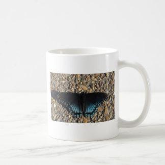 Blue Butterfly Basic White Mug