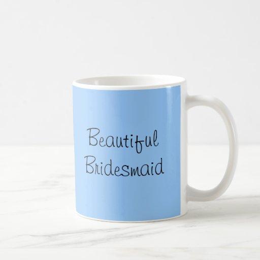 Blue Butterfly Beautiful Bridesmaid Thank You Mug