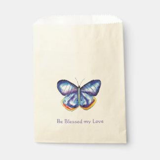 Blue Butterfly Blessings Love Favour Bag Favour Bags