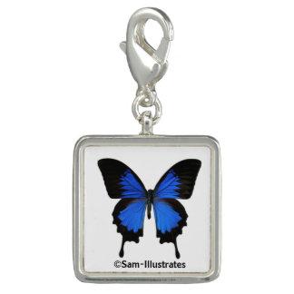 Blue Butterfly Charm Bracelet Charm