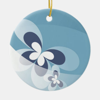 Blue Butterfly Christmas Ornament. Christmas Ornament