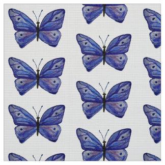 Blue Butterfly Custom Polyester Poplin Fabric