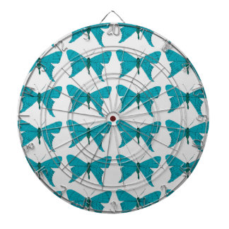 Blue butterfly dartboard