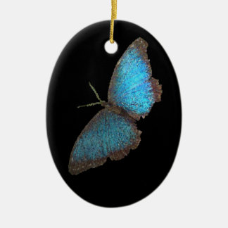 blue butterfly ( digital image ) christmas ornament