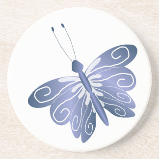Blue Butterfly Drink Coasters