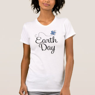 Blue Butterfly Earth Day T-shirt