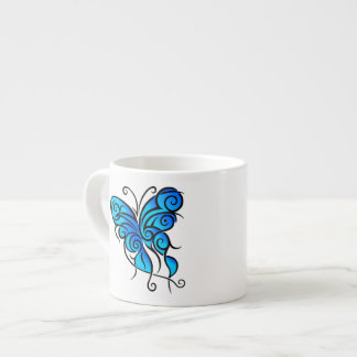 Blue Butterfly Espresso Cup