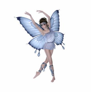 Blue Butterfly Fairy Princess Standing Photo Sculpture