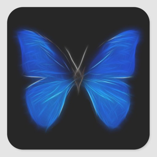 Blue Butterfly Flying Insect Stickers