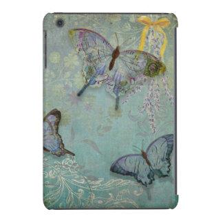 Blue Butterfly Garden iPad Mini Case Cover