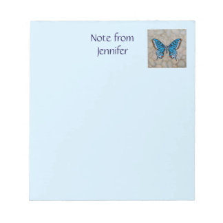 Blue Butterfly Gifts Memo Pad
