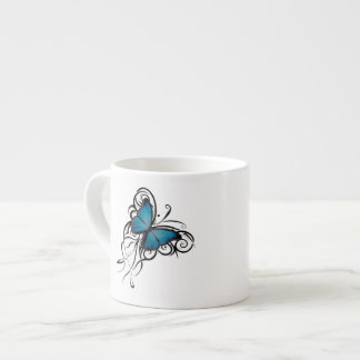 Blue Butterfly Grunge Espresso Cup