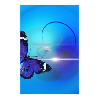 Blue Butterfly Image Stationery