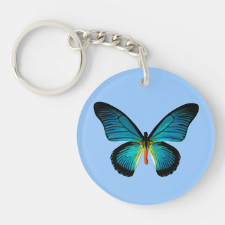 Blue Butterfly Key Chain