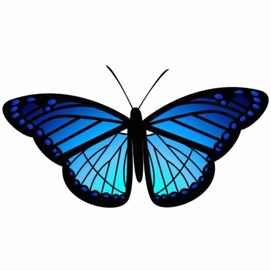 Blue butterfly magnet photo sculpture magnet