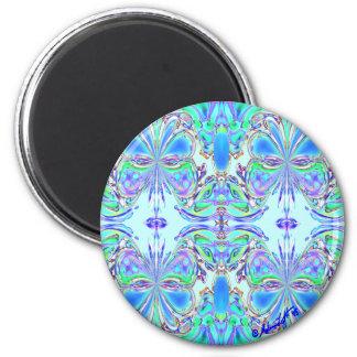 """Blue Butterfly Mandala"" Magnet"